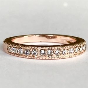 Rose Gold Anniversary Eternity Ring Size 7 8 9